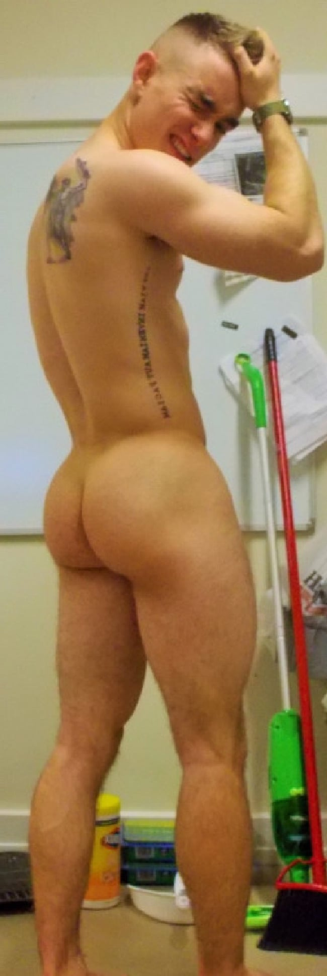 A Naked Guy Butt